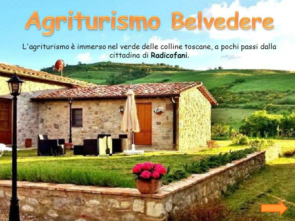 L agriturismo è situato nelle campagne di Radicofani, accanto alla via Francigena A 20 minuti da Pienza, a un ora Siena.