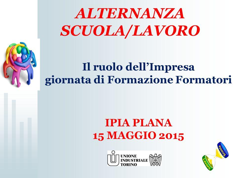 ALTERNANZA SCUOLA/LAVORO Il ruolo dell'Impresa giornata di Formazione Formatori IPIA PLANA 15 MAGGIO 2015