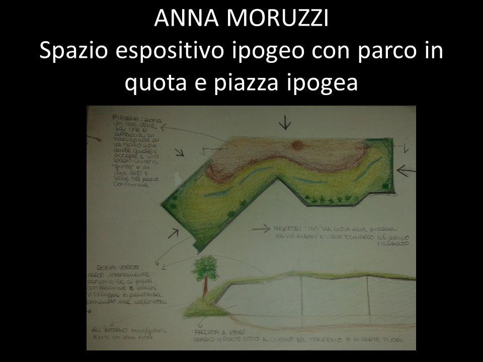 ANNA MORUZZI Spazio espositivo ipogeo con parco in quota e piazza ipogea