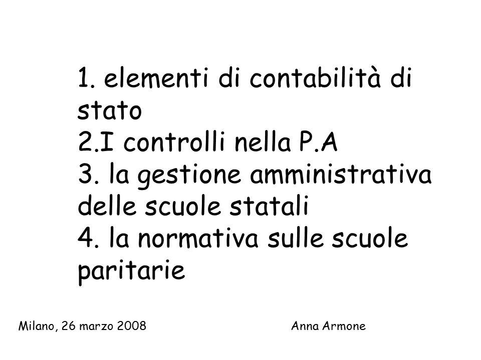 1.elementi di contabilità di stato 2.I controlli nella P.A 3.
