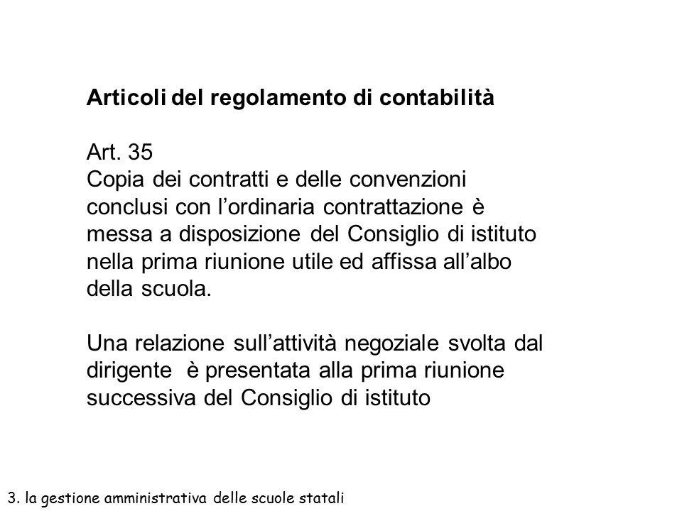 Articoli del regolamento di contabilità Art. 2 Il Consiglio approva il Programma annuale entro il 15 dicembre dell'anno prima quello di riferimento Ar