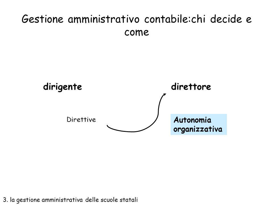 """Il direttore s.g.a """"sovrintende, con autonomia operativa, ai servizi generali amministrativo-contabili e ne cura l'organizzazione…."""". La norma parla d"""
