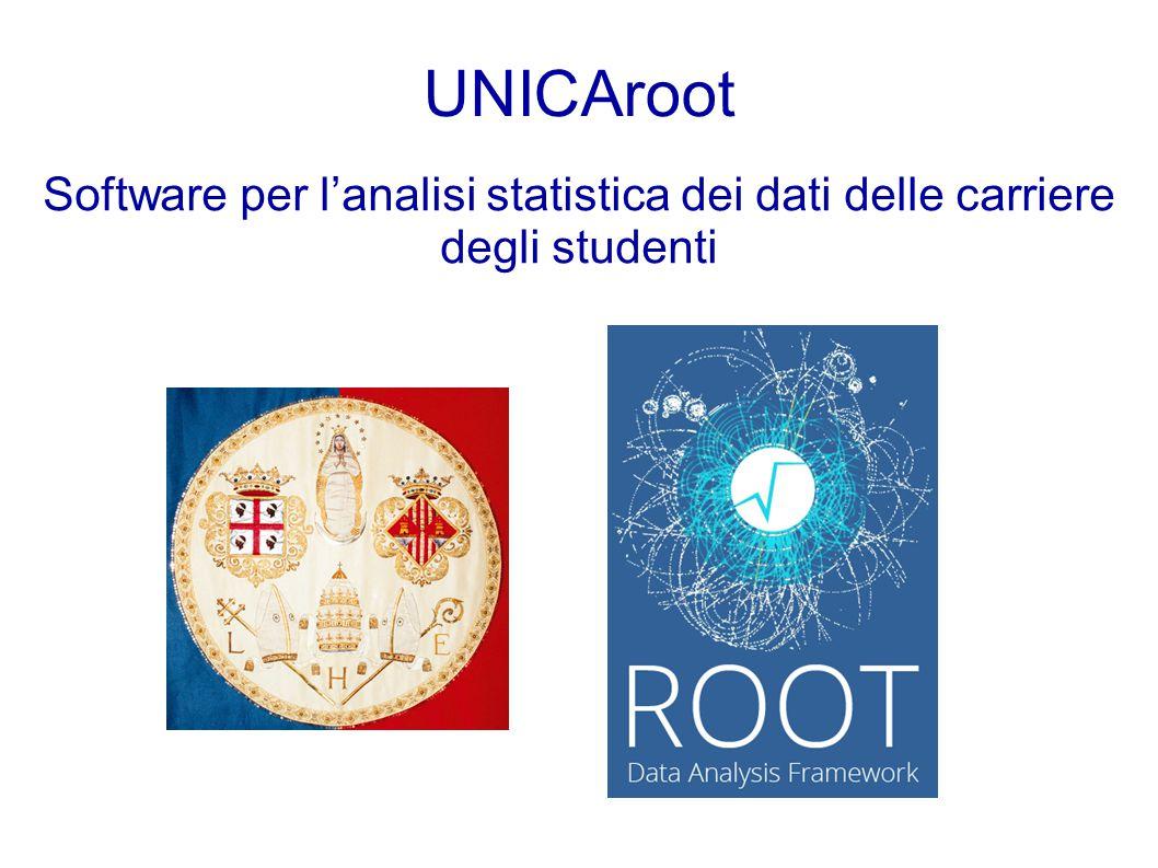 UNICAroot Software per l'analisi statistica dei dati delle carriere degli studenti