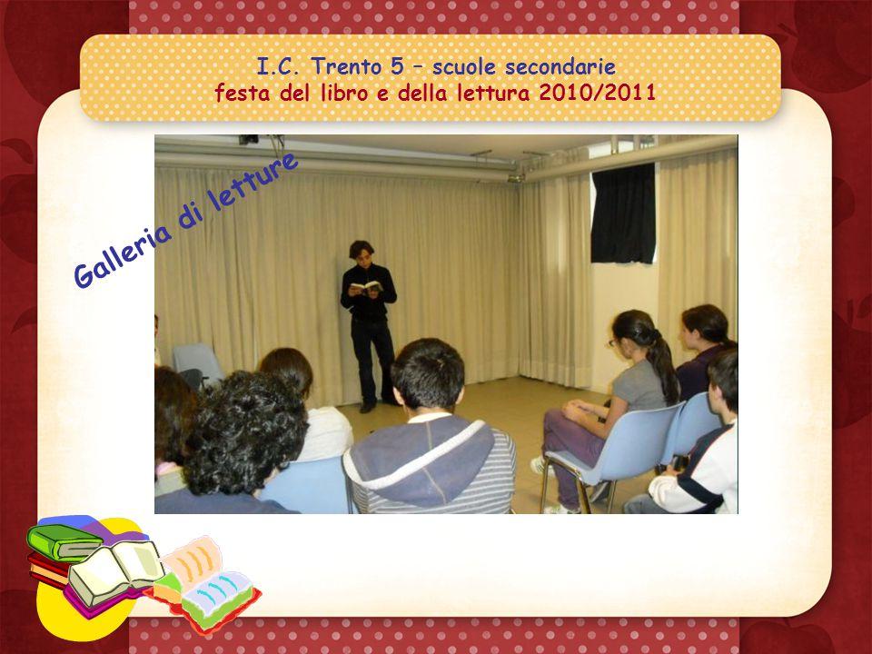 I.C. Trento 5 – scuole secondarie festa del libro e della lettura 2010/2011 Tutti devono sapere quanto mi è piaciuto il libro che ho scelto..!.. Chiss