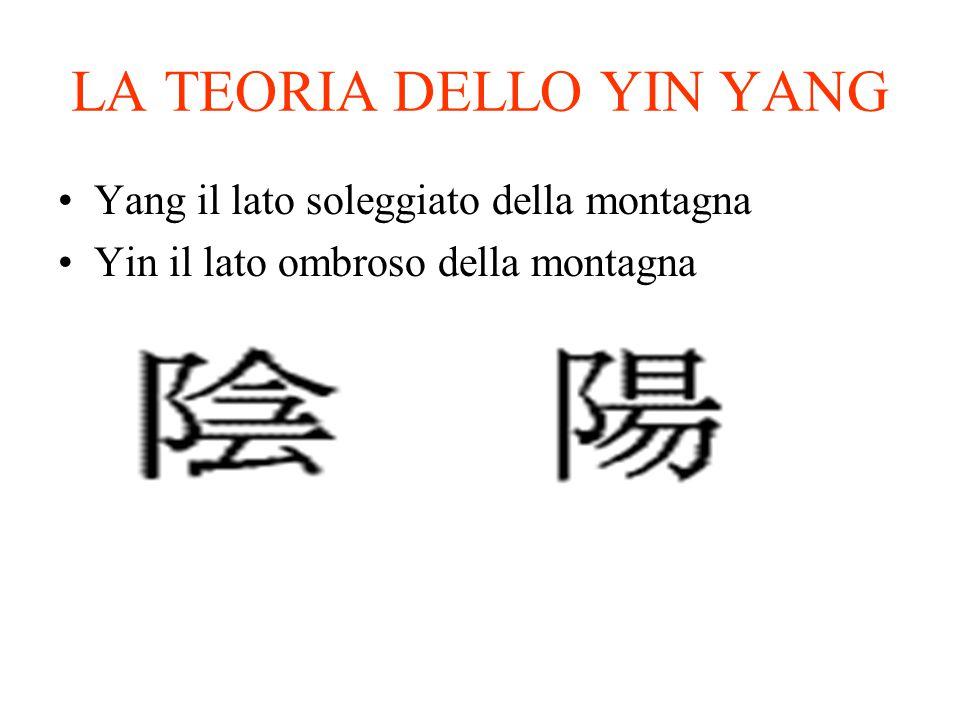 LA TEORIA DELLO YIN YANG Yang il lato soleggiato della montagna Yin il lato ombroso della montagna