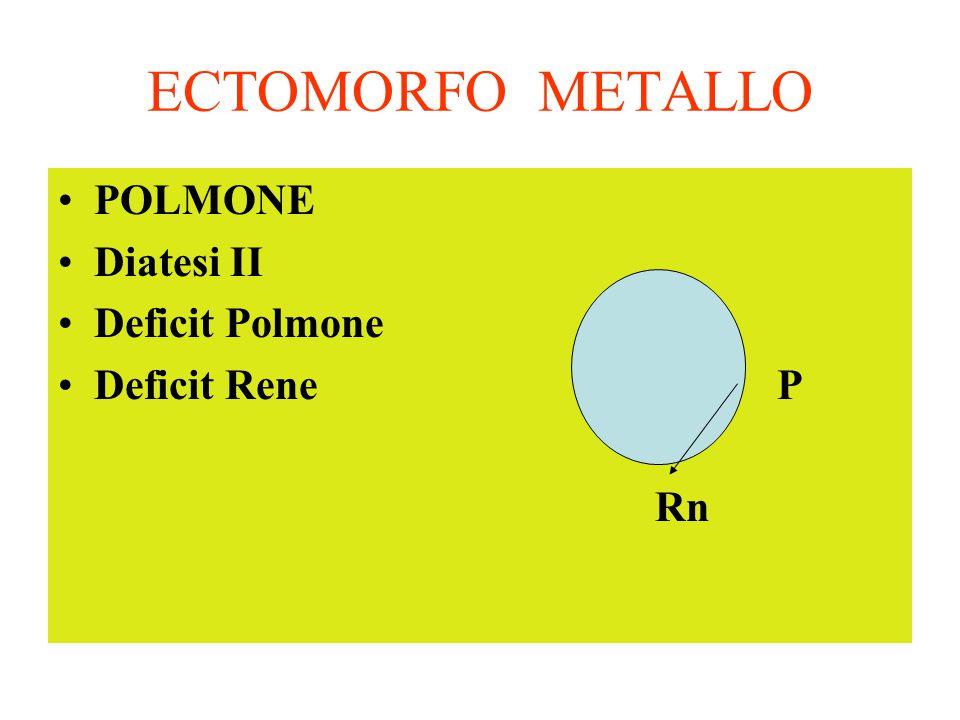 ECTOMORFO METALLO POLMONE Diatesi II Deficit Polmone Deficit Rene P Rn