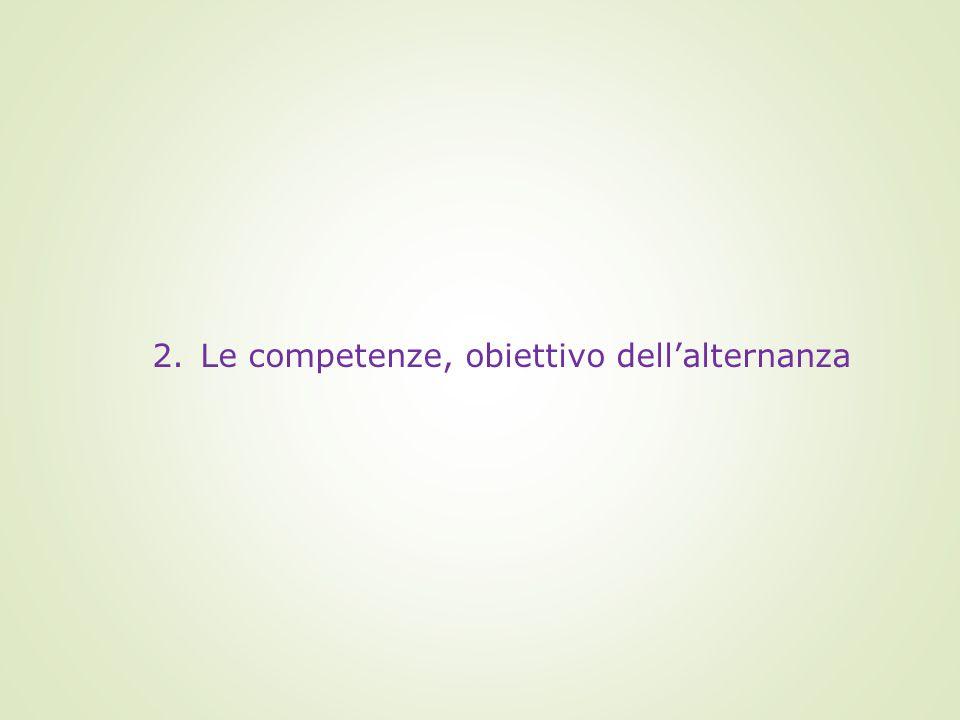 2.Le competenze, obiettivo dell'alternanza