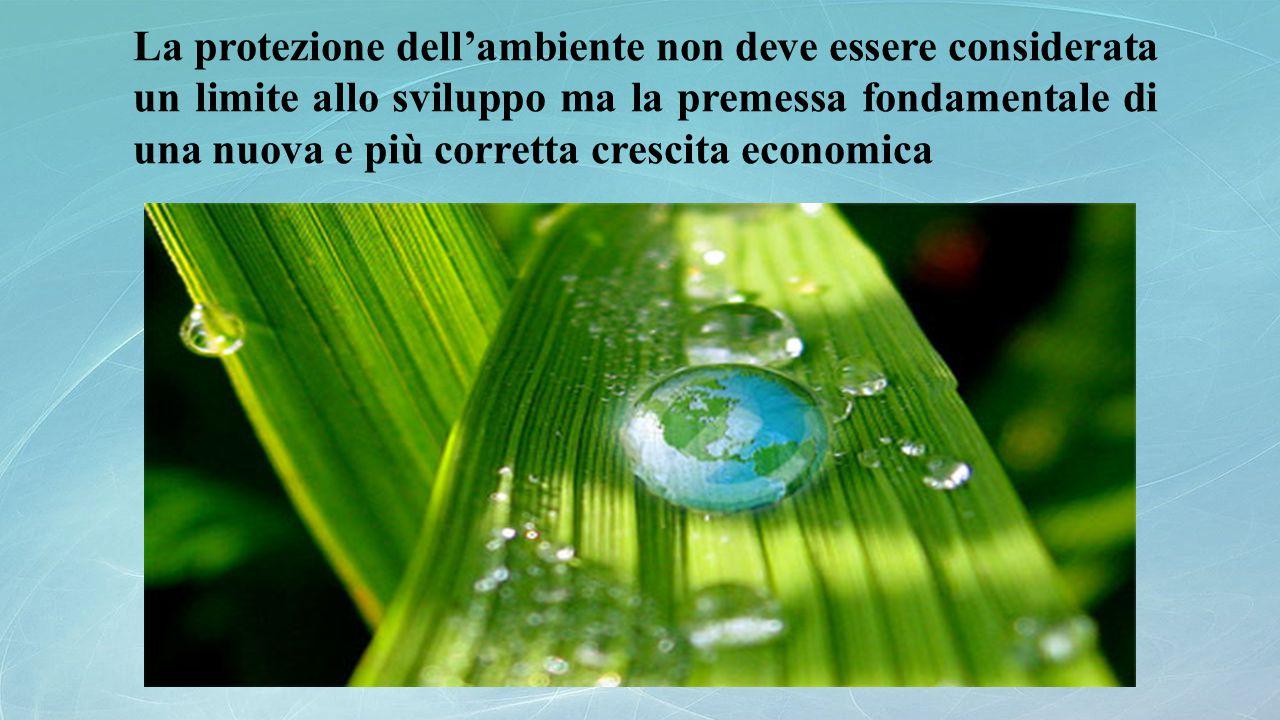 La protezione dell'ambiente non deve essere considerata un limite allo sviluppo ma la premessa fondamentale di una nuova e più corretta crescita econo