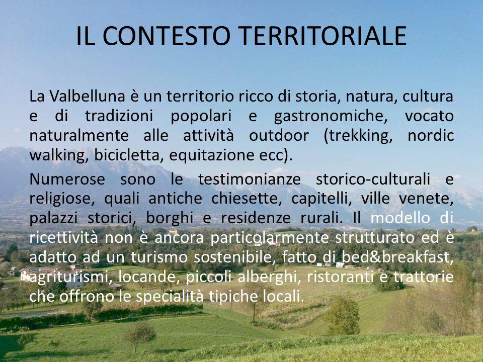 La Valbelluna è un territorio ricco di storia, natura, cultura e di tradizioni popolari e gastronomiche, vocato naturalmente alle attività outdoor (tr
