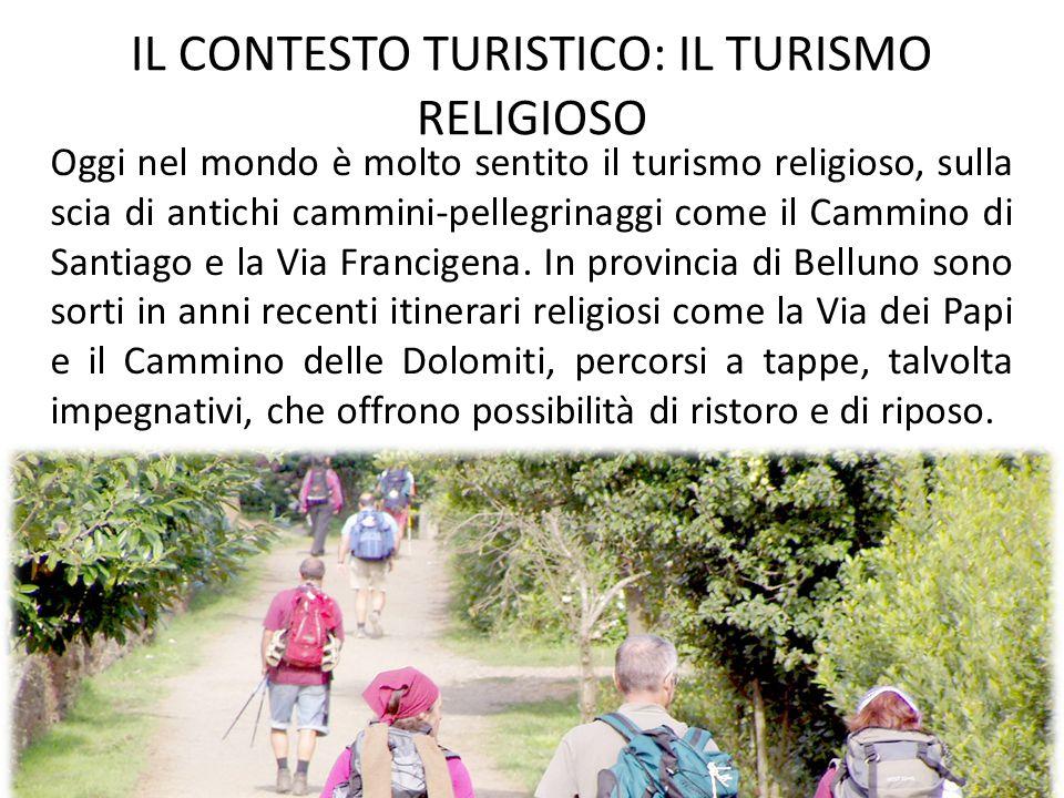 Oggi nel mondo è molto sentito il turismo religioso, sulla scia di antichi cammini-pellegrinaggi come il Cammino di Santiago e la Via Francigena. In p