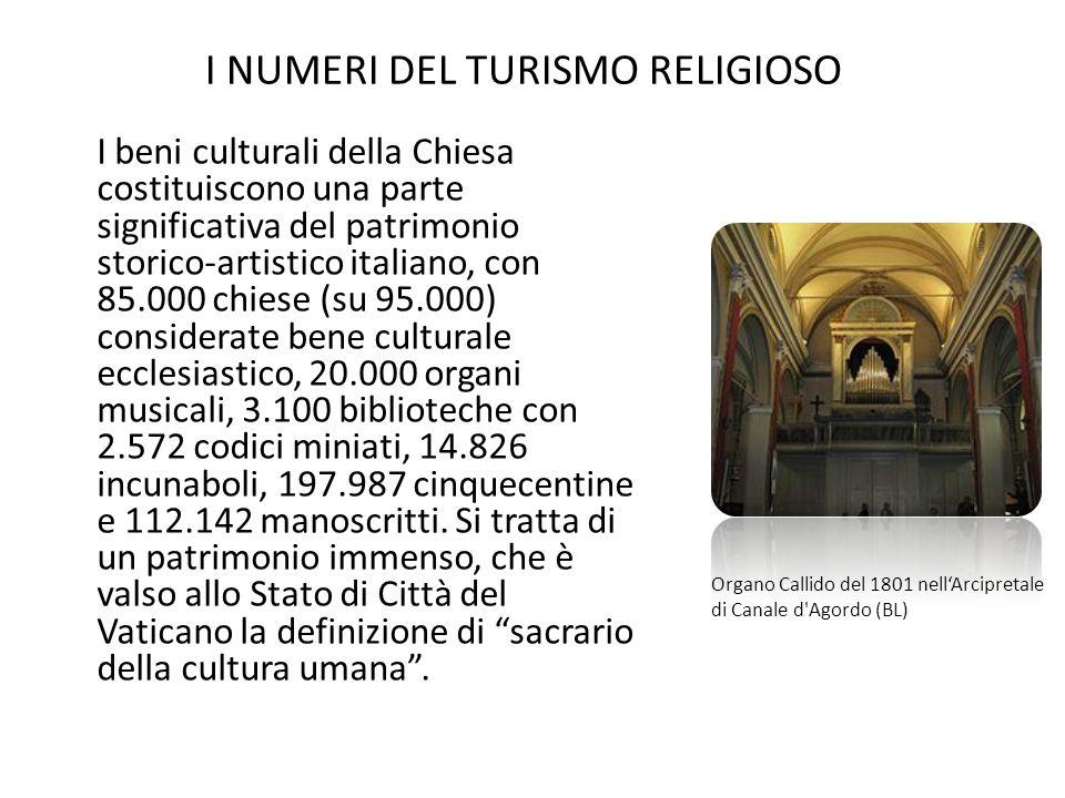 I beni culturali della Chiesa costituiscono una parte significativa del patrimonio storico-artistico italiano, con 85.000 chiese (su 95.000) considera
