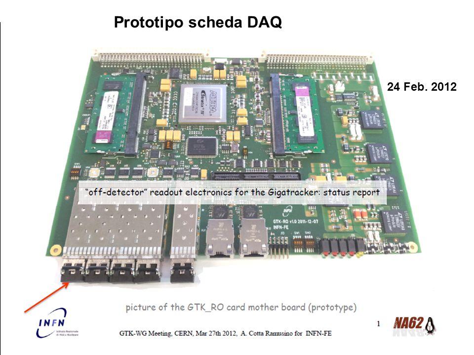 Prototipo scheda DAQ 24 Feb. 2012