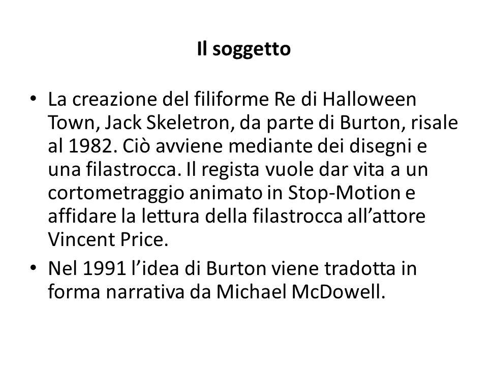 Il soggetto La creazione del filiforme Re di Halloween Town, Jack Skeletron, da parte di Burton, risale al 1982.