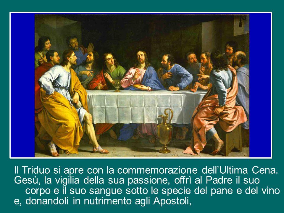 """Domani è il Giovedì Santo. Nel pomeriggio, con la Santa Messa """"nella Cena del Signore"""", avrà inizio il Triduo Pasquale della passione, morte e risurre"""
