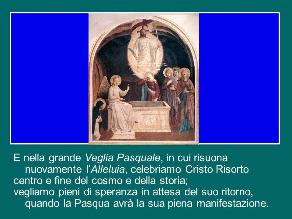 Nel Sabato Santo la Chiesa, ancora una volta, si identifica con Maria: tutta la sua fede è raccolta in Lei, la prima e perfetta discepola, la prima e
