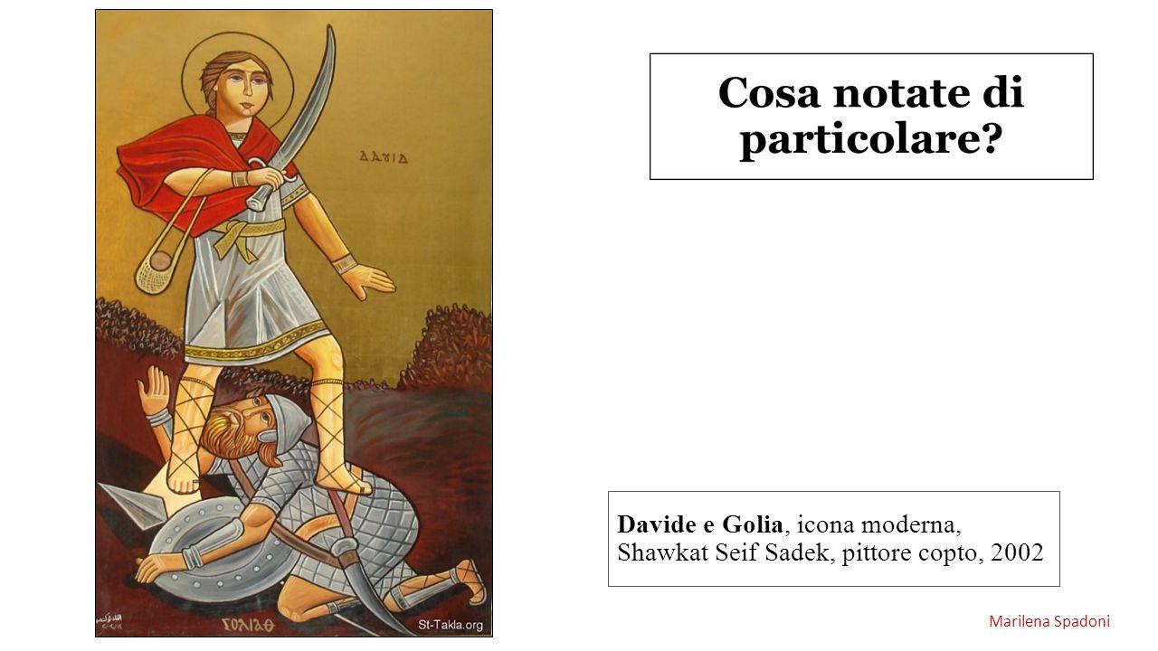 Davide e Golia, icona moderna, Shawkat Seif Sadek, pittore copto, 2002 Marilena Spadoni