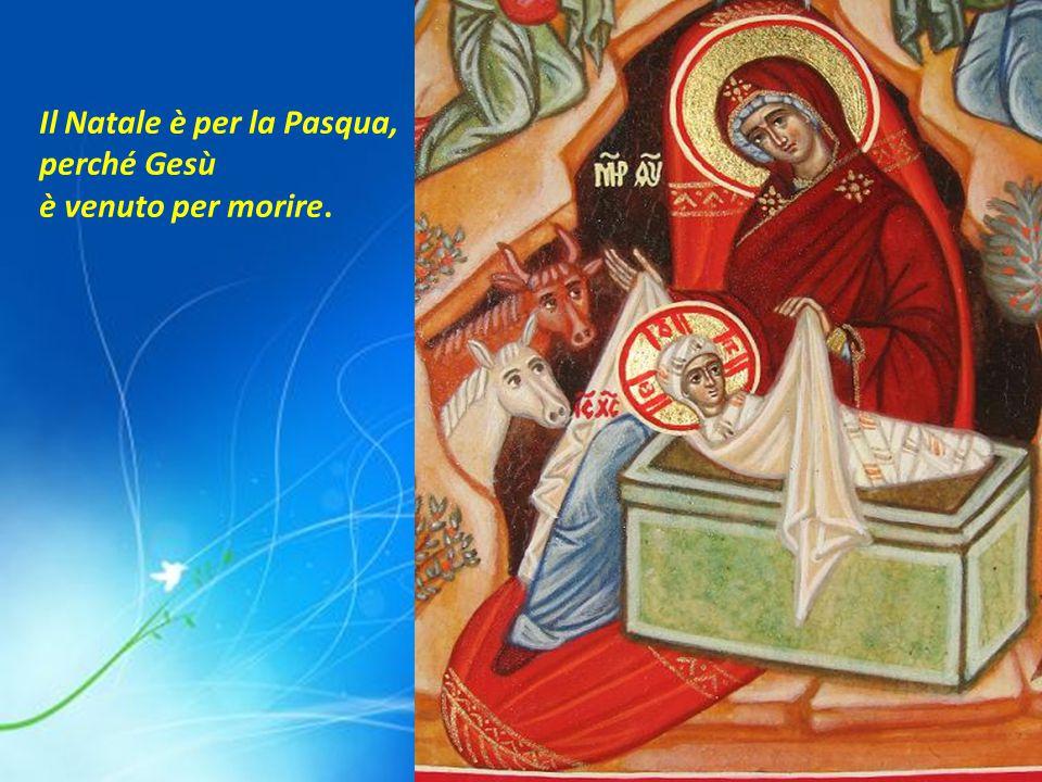 Il Natale è per la Pasqua, perché Gesù è venuto per morire.