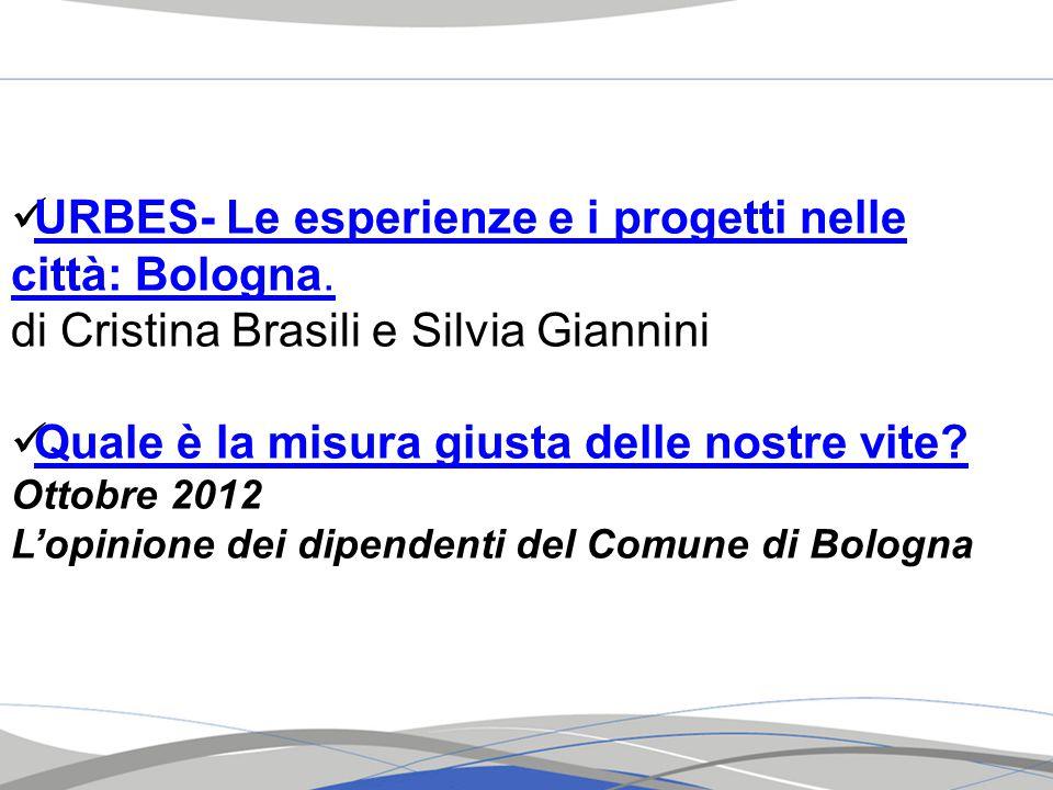 URBES- Le esperienze e i progetti nelle città: Bologna.
