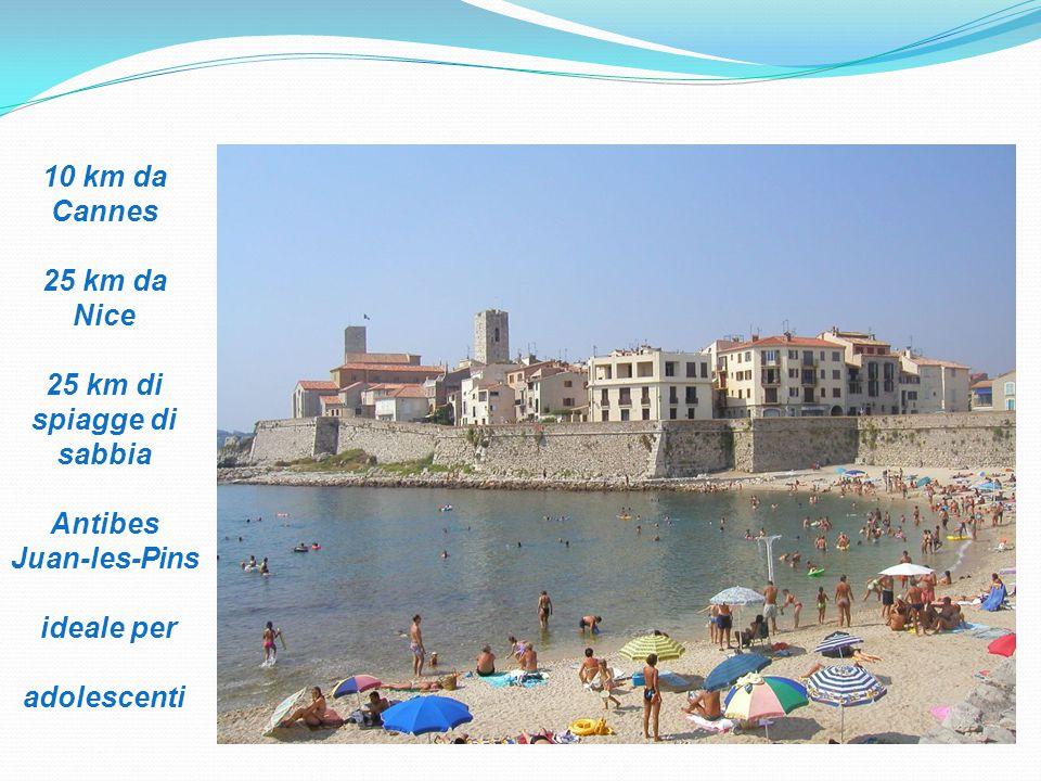 10 km da Cannes 25 km da Nice 25 km di spiagge di sabbia Antibes Juan-les-Pins ideale per adolescenti