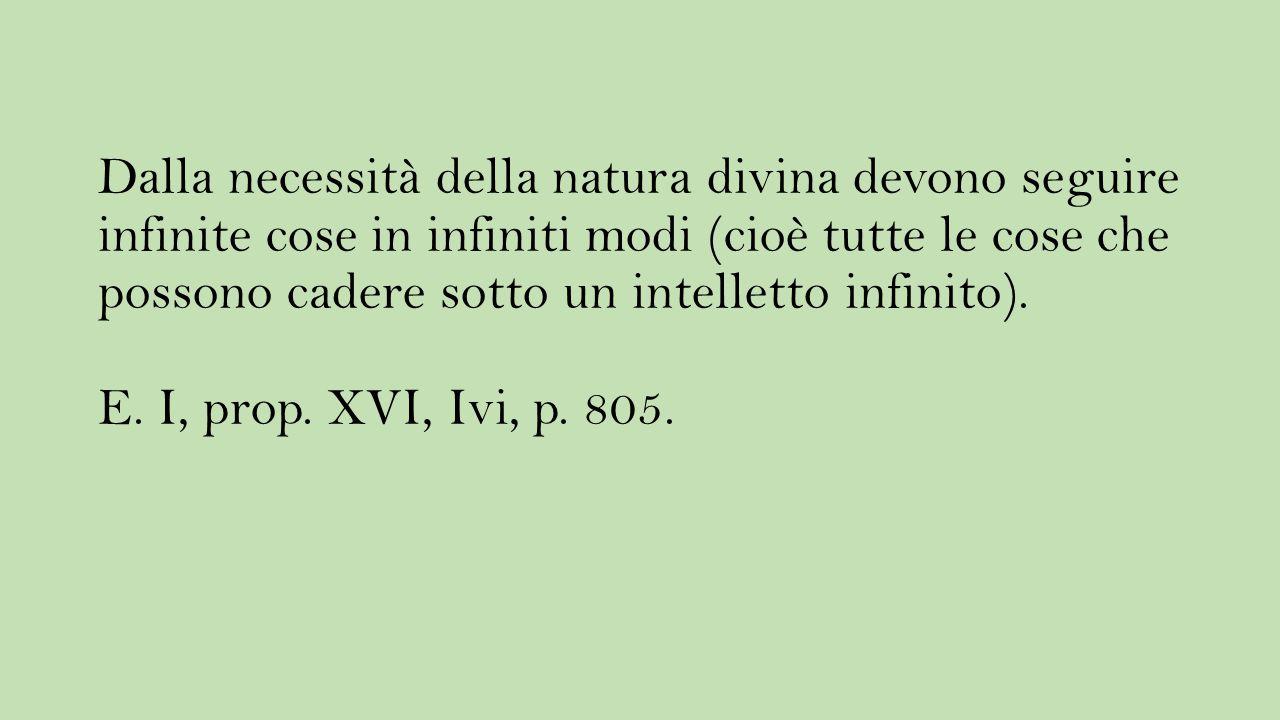 Dalla necessità della natura divina devono seguire infinite cose in infiniti modi (cioè tutte le cose che possono cadere sotto un intelletto infinito)