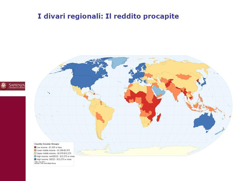 10 I divari regionali: Il reddito procapite