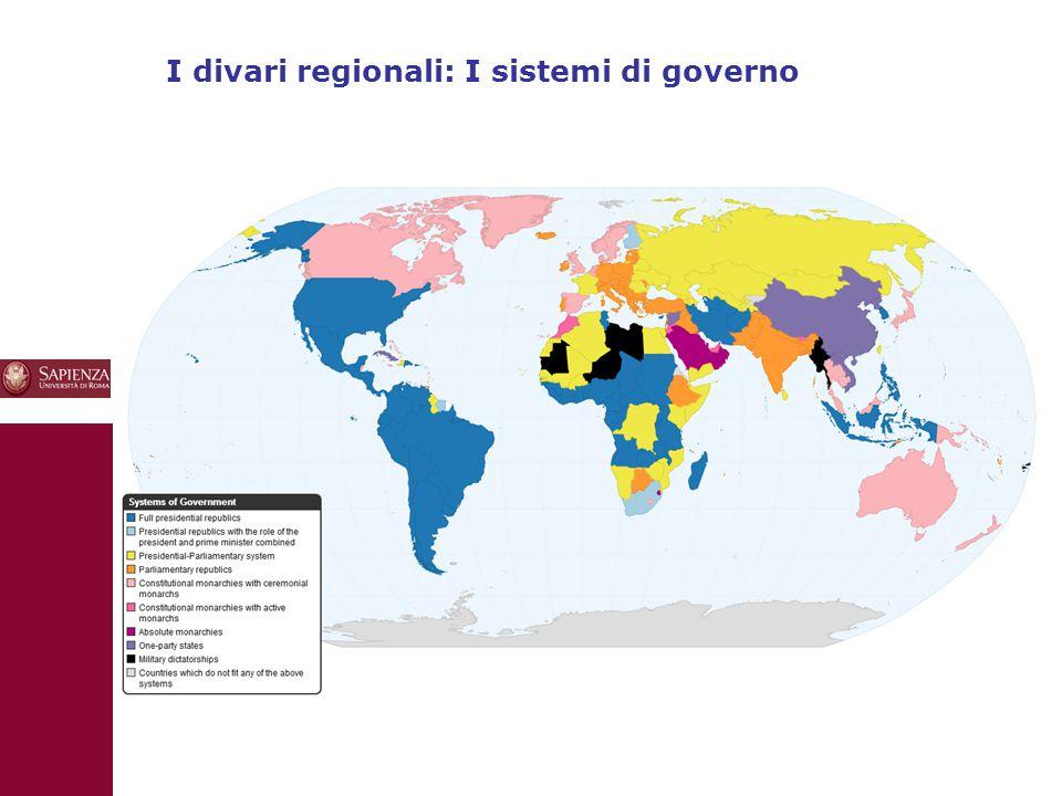 10 I divari regionali: I sistemi di governo