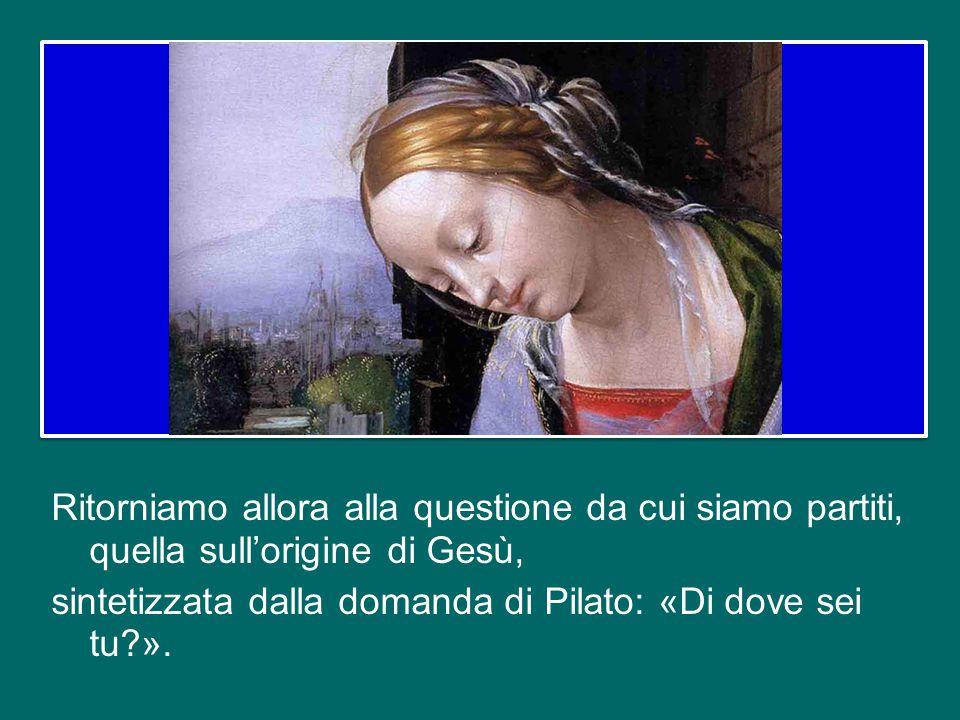 Maria, quindi, è la nuova tenda santa, la nuova arca dell'alleanza: con il suo «sì» alle parole dell'arcangelo, Dio riceve una dimora in questo mondo,