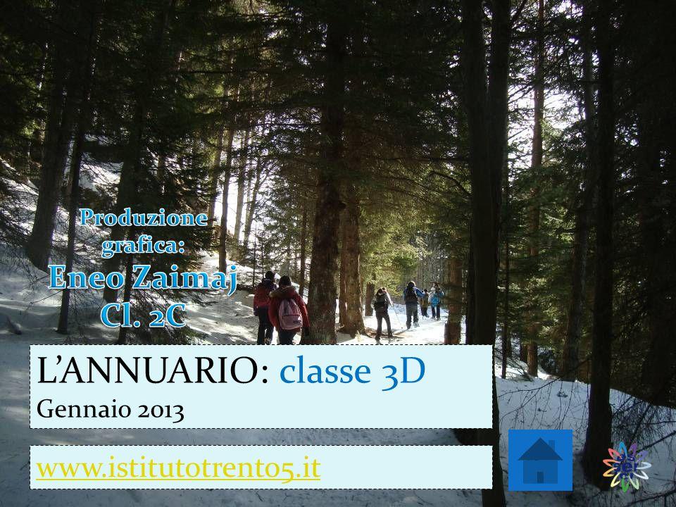 www.istitutotrento5.it L'ANNUARIO: classe 3D Gennaio 2013