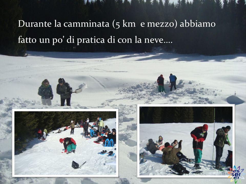 Abbiamo scoperto come si formano le valanghe e come prevenirle, e ci hanno dato informazioni sulla neve e sulle sue particolarità.