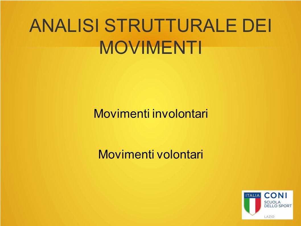 ANALISI STRUTTURALE DEI MOVIMENTI Movimenti involontari Movimenti volontari