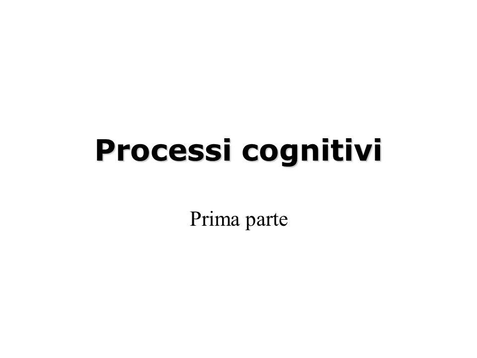 Processi cognitivi Prima parte