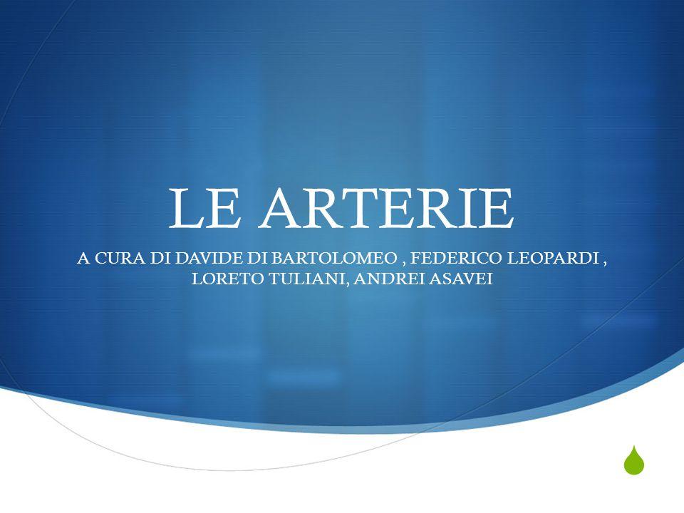  LE ARTERIE A CURA DI DAVIDE DI BARTOLOMEO, FEDERICO LEOPARDI, LORETO TULIANI, ANDREI ASAVEI