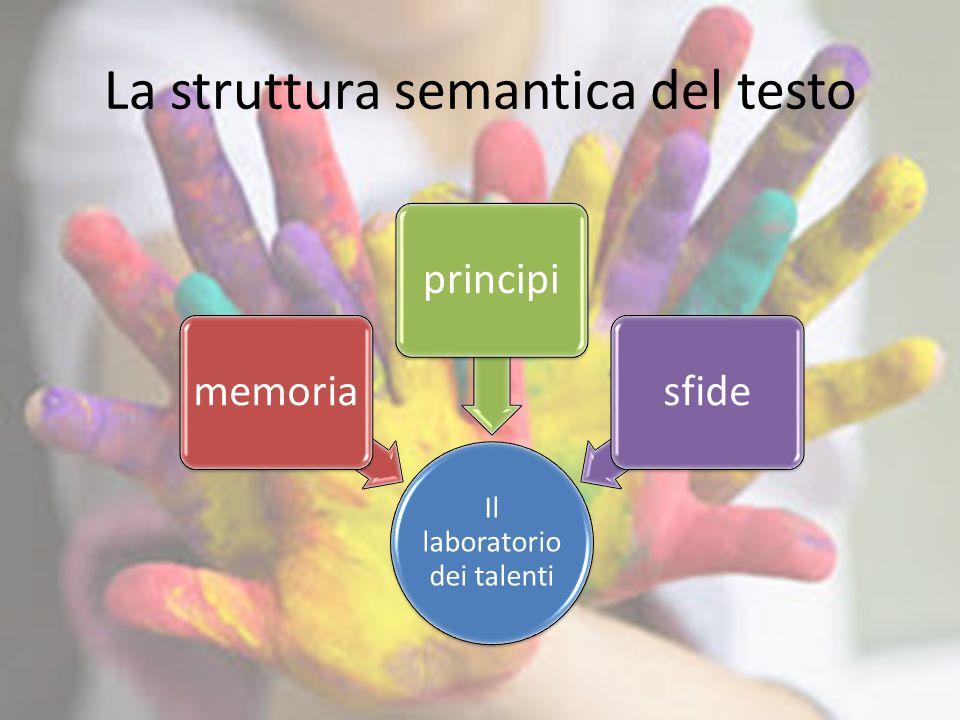 La struttura semantica del testo Il laboratorio dei talenti memoriaprincipisfide