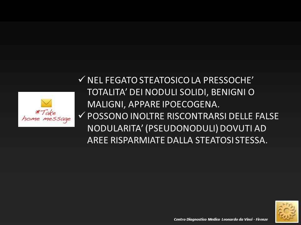 Centro Diagnostico Medico Leonardo da Vinci - Firenze LE ZONE DI RISPARMIO STEATOSICO POSSONO SOSPETTARSI PER LA FORMA (QUADRANGOLARE, LINEARE PERIVASCOLARE) E PER LA SEDE (ES.
