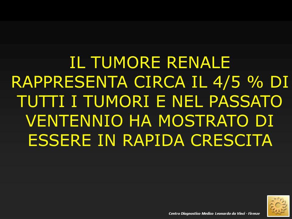 LA MORTALITA' PER TUMORE RENALE SI E' NOTEVOLMENTE RIDOTTA NEL PASSATO VENTENNIO Centro Diagnostico Medico Leonardo da Vinci - Firenze