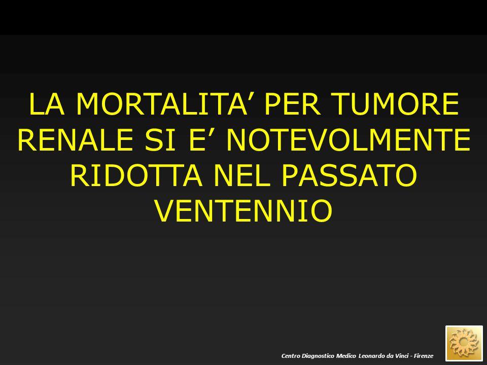 QUESTO RISULTATO E' DOVUTO ALLA DIAGNOSI PRECOCE ED ALL'EVOLUZIONE DELLE TECNICHE TERAPEUTICHE Centro Diagnostico Medico Leonardo da Vinci - Firenze