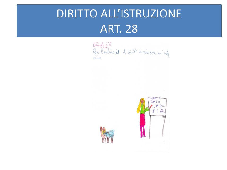 DIRITTO AD AVERE UN AMICO ART.15