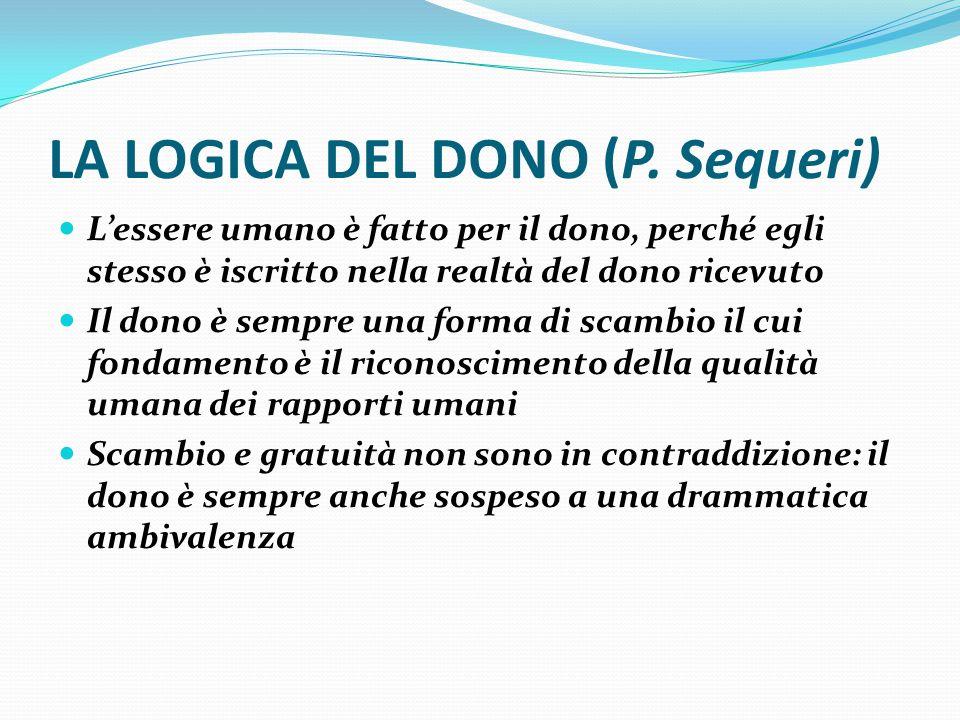LA LOGICA DEL DONO (P.