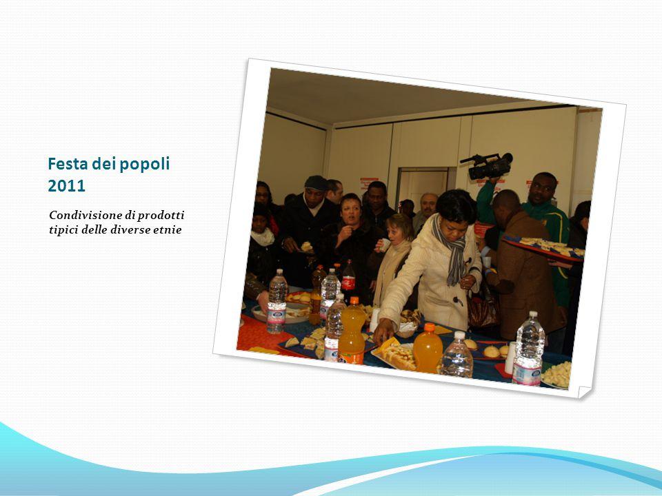 Festa dei popoli 2011 Condivisione di prodotti tipici delle diverse etnie