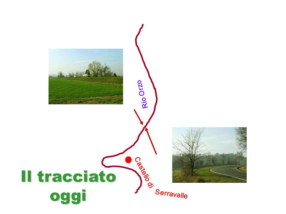 Castello di Rio Orzo Serravalle Il tracciato oggi