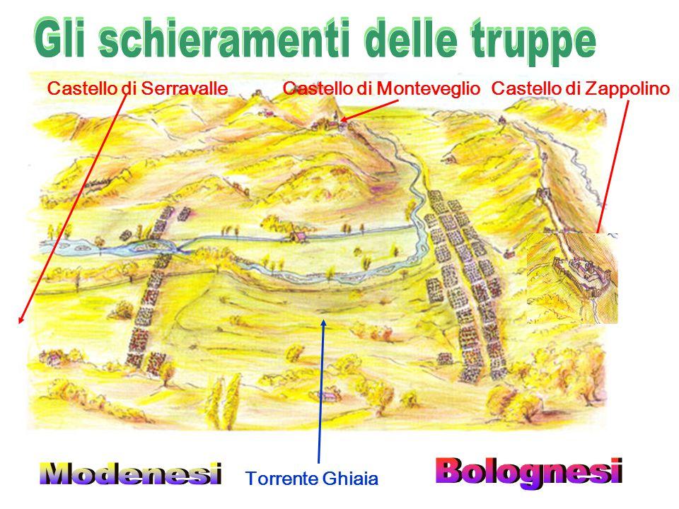 Castello di ZappolinoCastello di MonteveglioCastello di Serravalle Torrente Ghiaia
