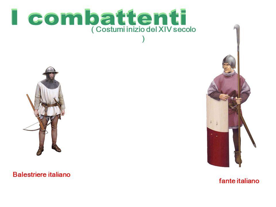 ( Costumi inizio del XIV secolo ) Balestriere italiano fante italiano