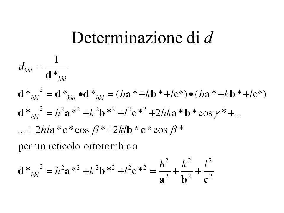 Determinazione di d
