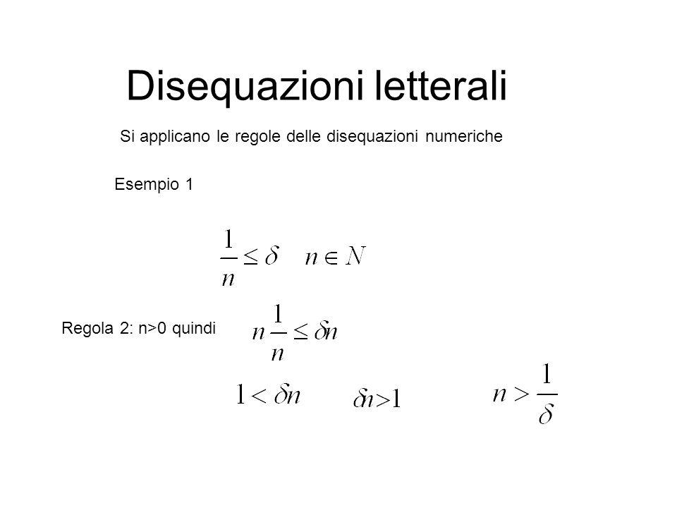 Disequazioni letterali Esercizio 2