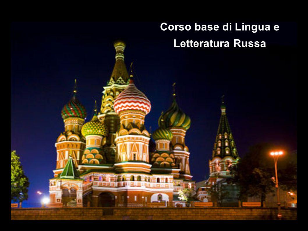 Corso base di Lingua e Letteratura Russa