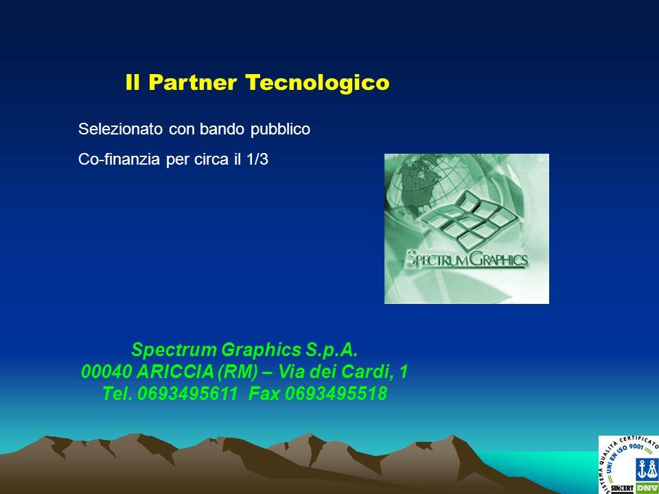 Il Partner Tecnologico Spectrum Graphics S.p.A. 00040 ARICCIA (RM) – Via dei Cardi, 1 Tel. 0693495611 Fax 0693495518 Selezionato con bando pubblico Co