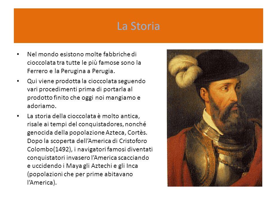 La Storia Nel mondo esistono molte fabbriche di cioccolata tra tutte le più famose sono la Ferrero e la Perugina a Perugia. Qui viene prodotta la cioc