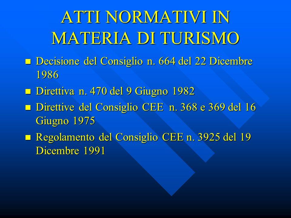 VIAGGI E VACANZE TUTTO COMPRESO Direttiva del Consiglio 90/314 del 13 Giugno 1990 Obiettivi della Direttiva: Protezione del consumatore Protezione del consumatore Avvio di una politica comunitaria in materia di turismo Avvio di una politica comunitaria in materia di turismo