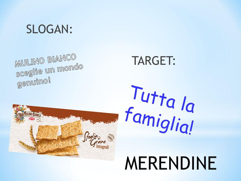 TARGET: SLOGAN: Tutta la famiglia!