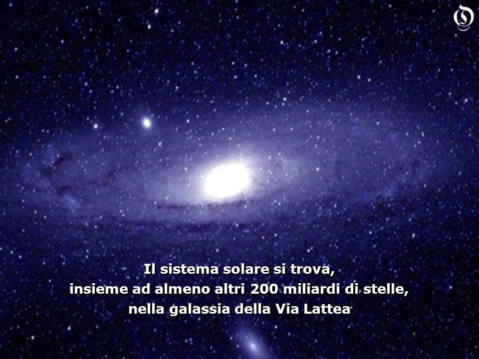 Il sistema solare si trova, insieme ad almeno altri 200 miliardi di stelle, nella galassia della Via Lattea Il sistema solare si trova, insieme ad almeno altri 200 miliardi di stelle, nella galassia della Via Lattea O